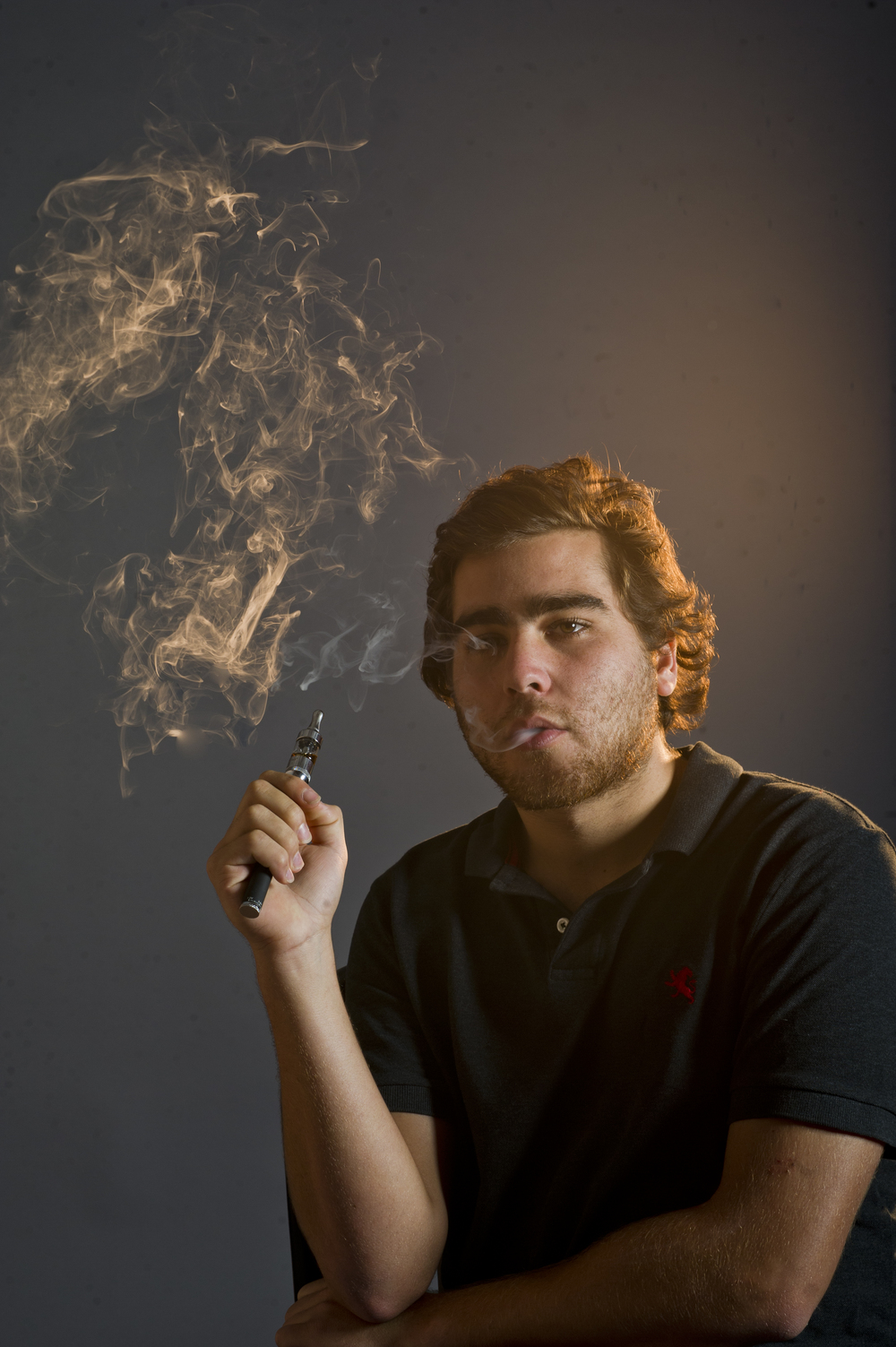 For a story about vaping. Photo by Cydney Scott for Boston University Photography