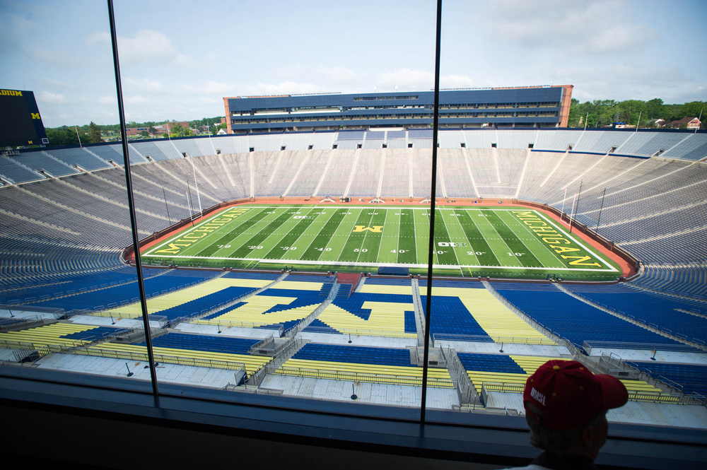 A tour of Michigan Stadium. The third largest stadium in the world!