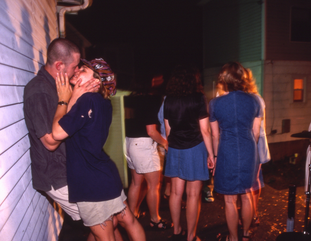 Suzanne and Joe lock lips, 1997