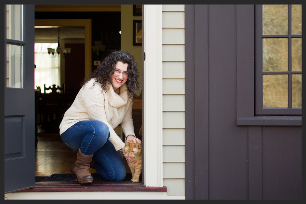 I photographed Donna in her farmhouse (with her cat, Billy)  in N. Reading, MA on March 18, 2016.