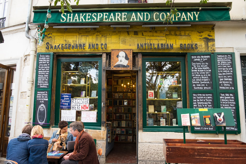 Amercan's camped out in front of the historic Shakespeare and Company bookstore in Paris. They were registering ex-pats to vote.