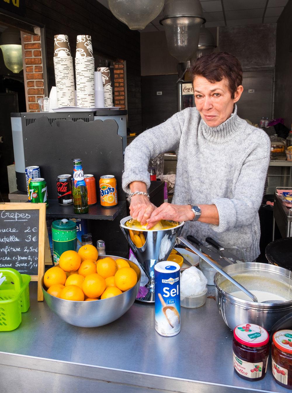 Fresh-squeezed orange juice.