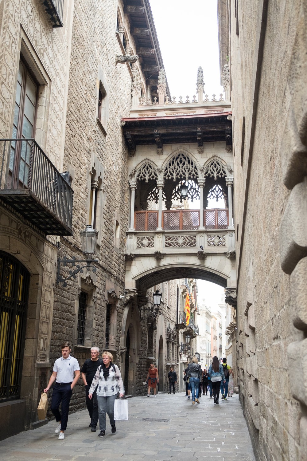 In El Gotic, the gothic quarter of Barcelona