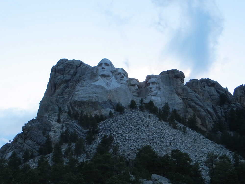Mount Rushmore NM at night -- Cotton Cashmere Cat Hair