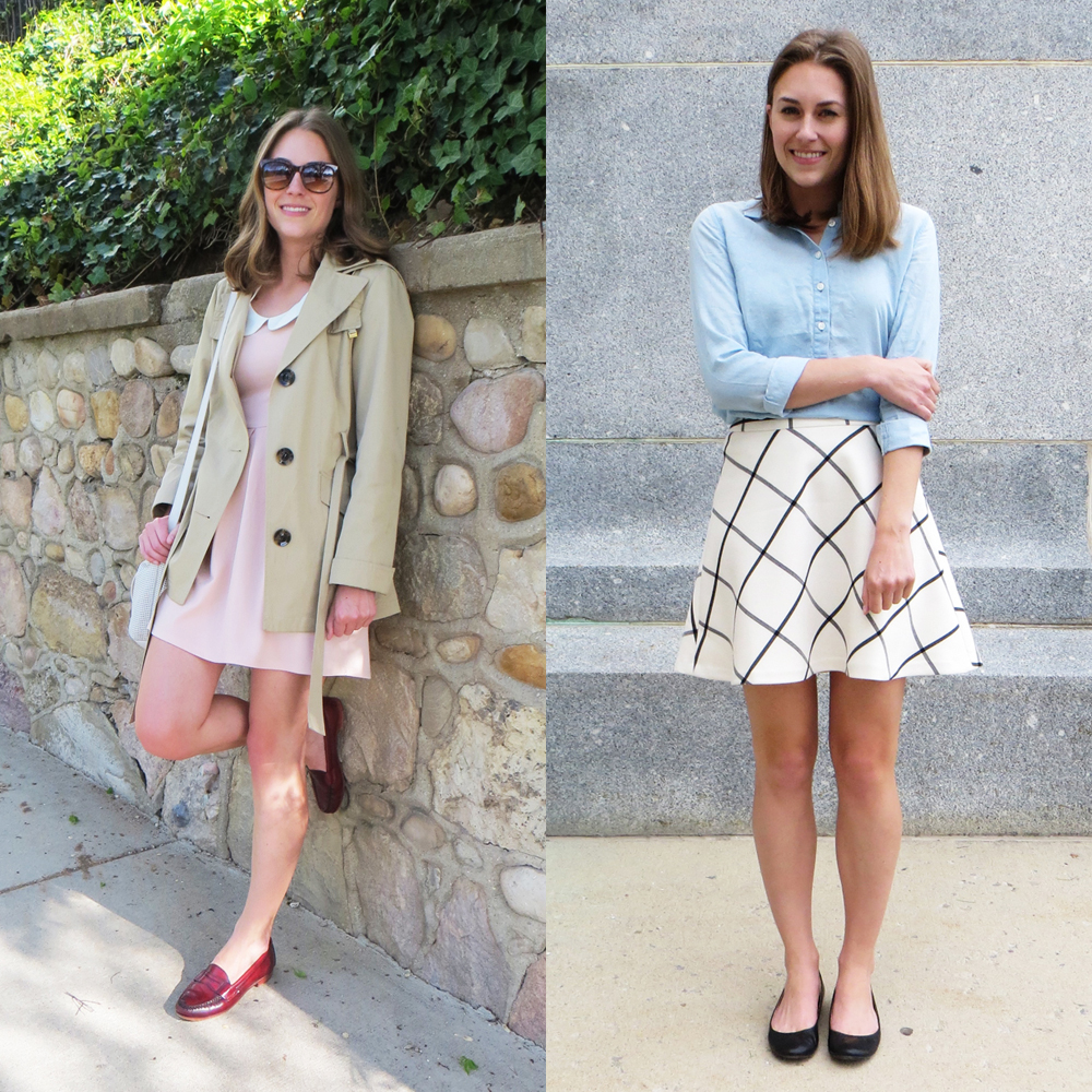 Pastels, trench coat, and windowpane print for spring/summer -- Cotton Cashmere Cat Hair
