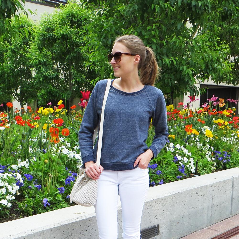 Best purchase of 2015: Everlane marled sweatshirt — Cotton Cashmere Cat Hair