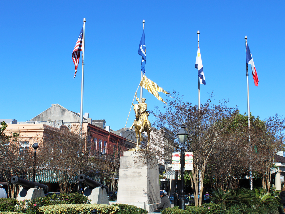Place de France + Joan of Arc statue, New Orleans — Cotton Cashmere Cat Hair