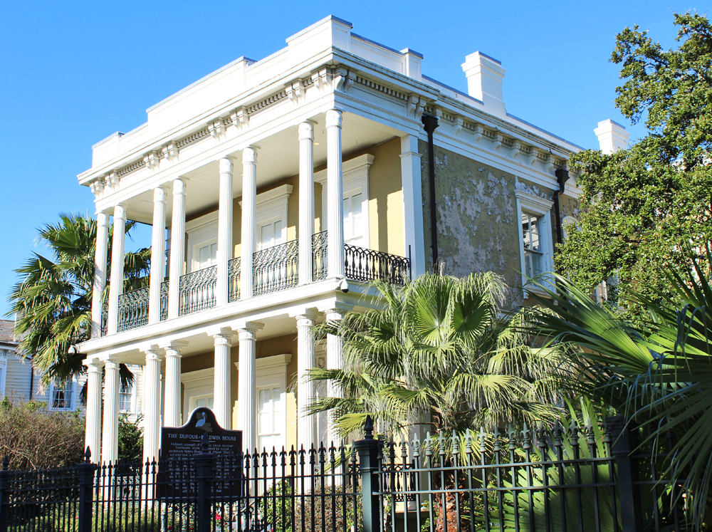 Dufour-Baldwin House (Greek Revival architecture), New Orleans — Cotton Cashmere Cat Hair