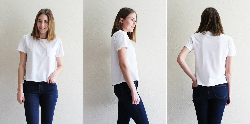 Everlane 'The Box-Cut Tee' in white — Cotton Cashmere Cat Hair