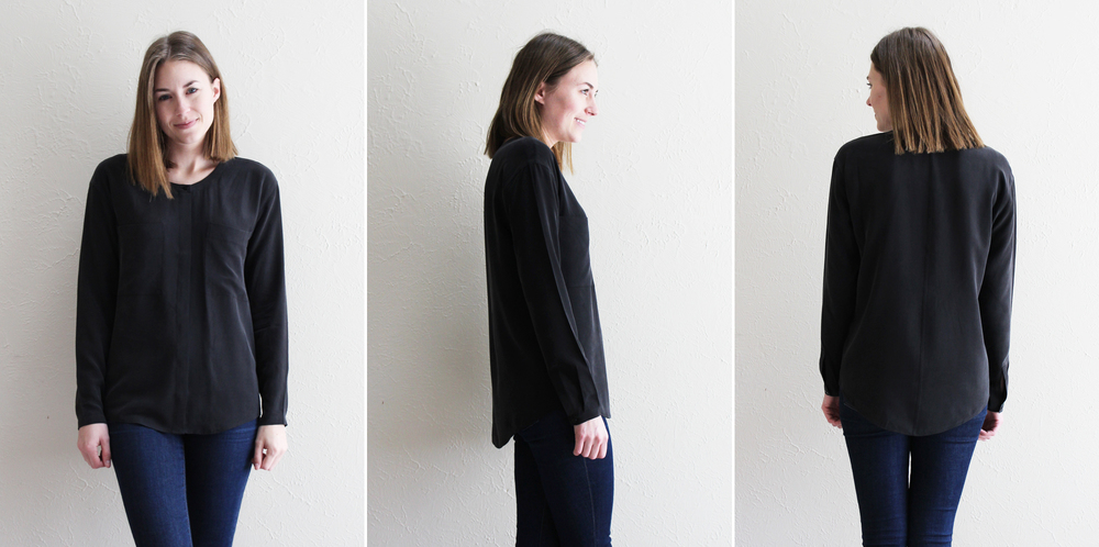 Everlane 'The Silk Pocket' in black — Cotton Cashmere Cat Hair