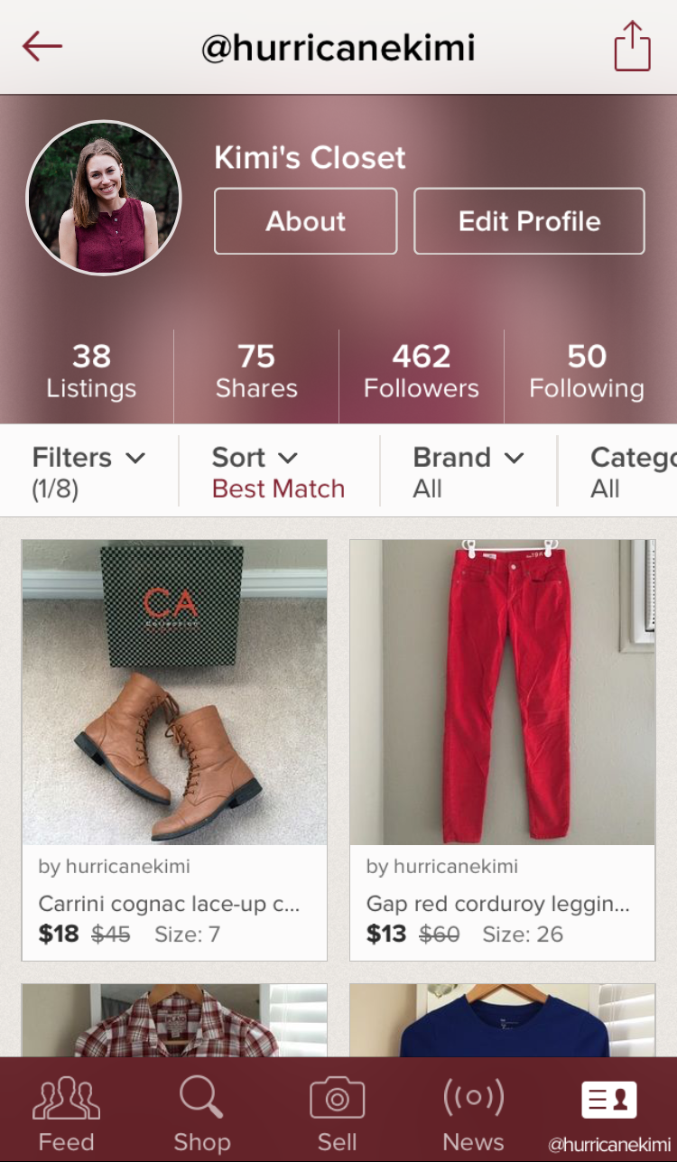 Favorite iPhone app: Poshmark — via Cotton Cashmere Cat Hair
