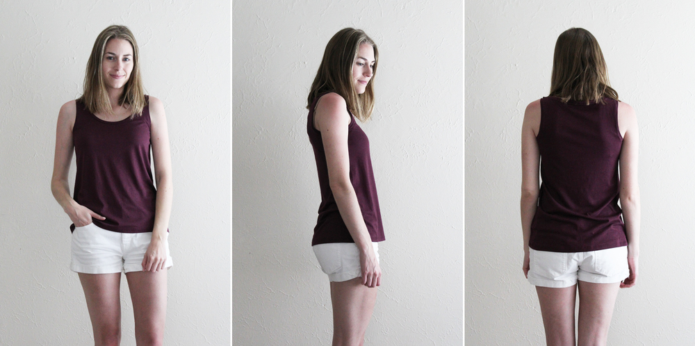 Grana 'Pima Modal Tank' in mulberry — via Cotton Cashmere Cat Hair