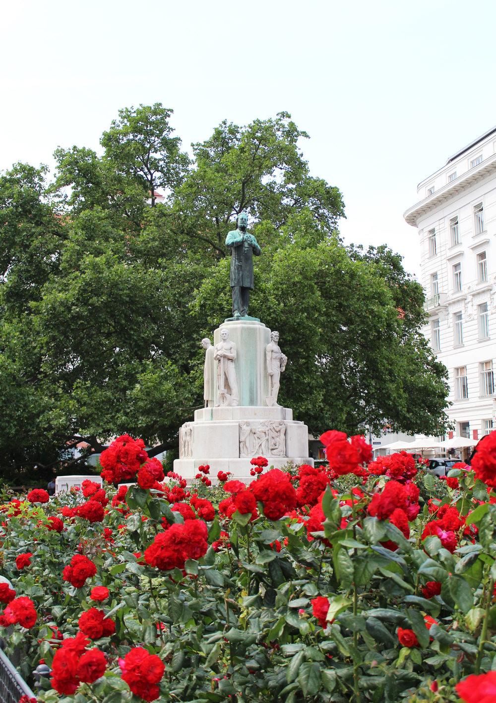 Statue of Karl Lueger, Vienna, Austria — via Cotton Cashmere Cat Hair