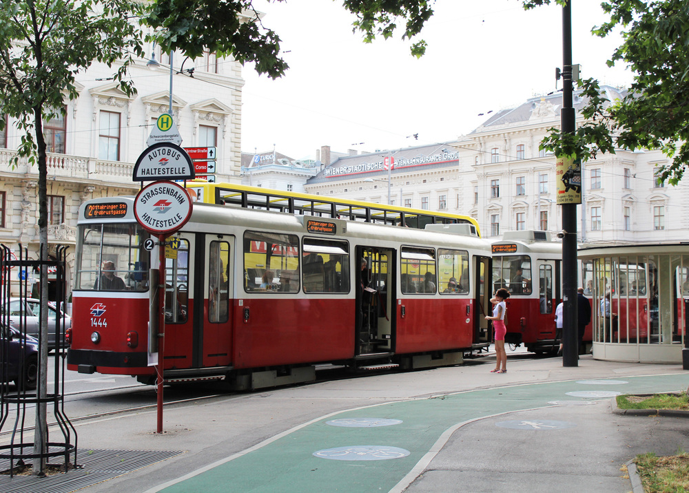 Old tramway in the first district of Vienna, Austria — via Cotton Cashmere Cat Hair