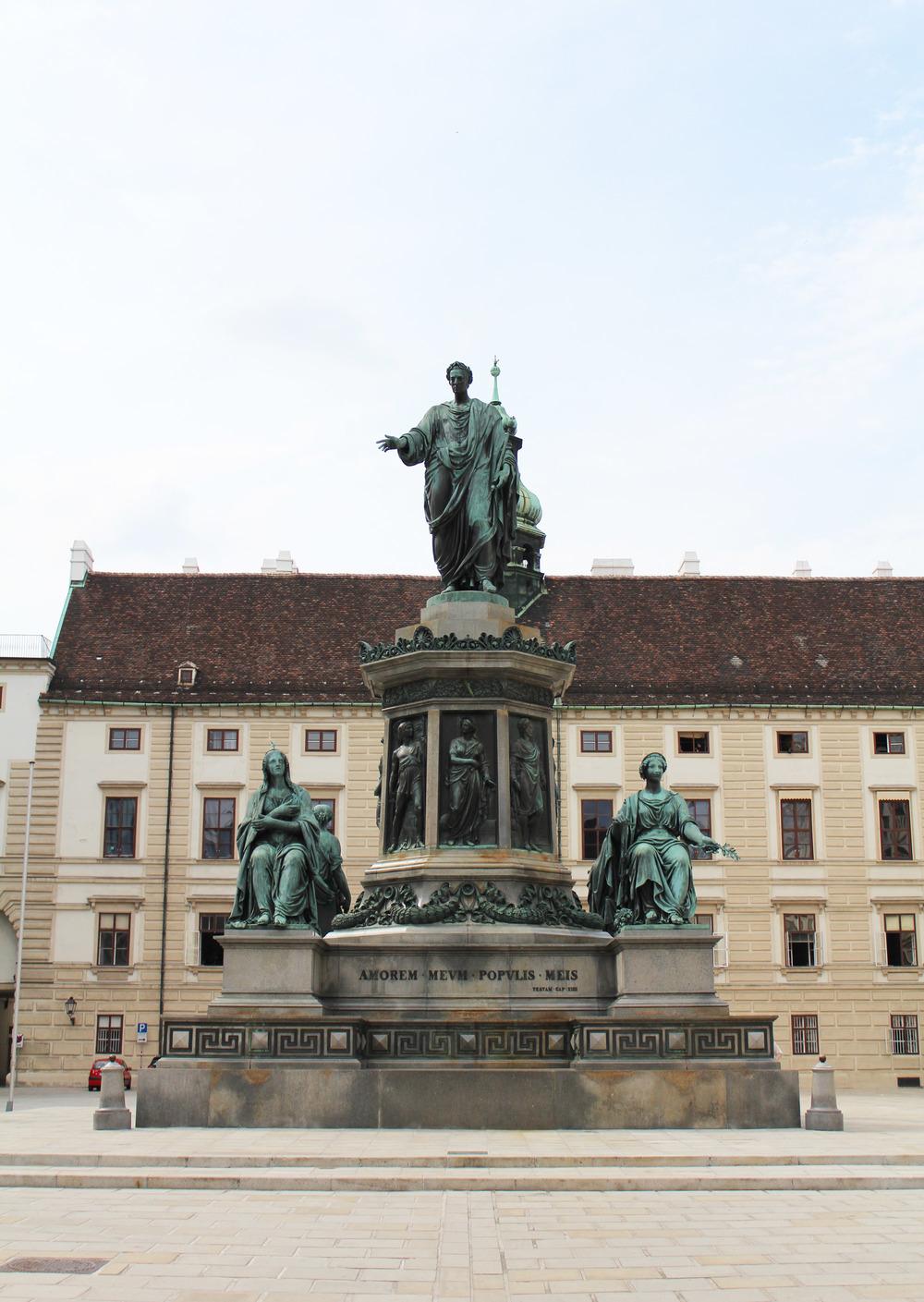Statue of Kaiser Franz I. Denkmal at Hofburg Palace, Vienna, Austria — via Cotton Cashmere Cat Hair