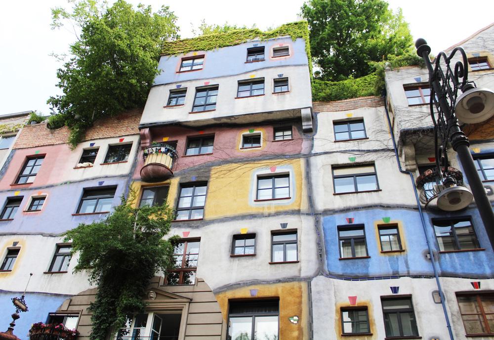 Hundertwasserhaus, Vienna, Austria — via Cotton Cashmere Cat Hair