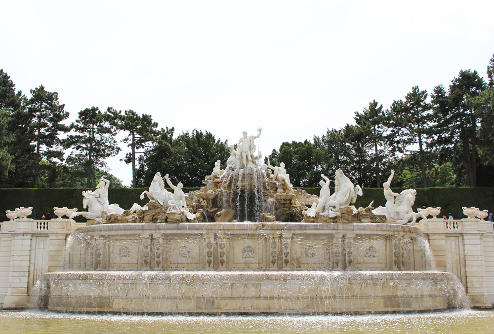 Fountain at Schönbrunn Palace — via Cotton Cashmere Cat Hair