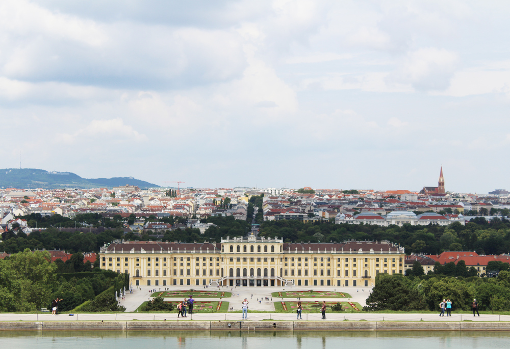 View of Vienna from Gloriette at Schönbrunn Palace — via Cotton Cashmere Cat Hair