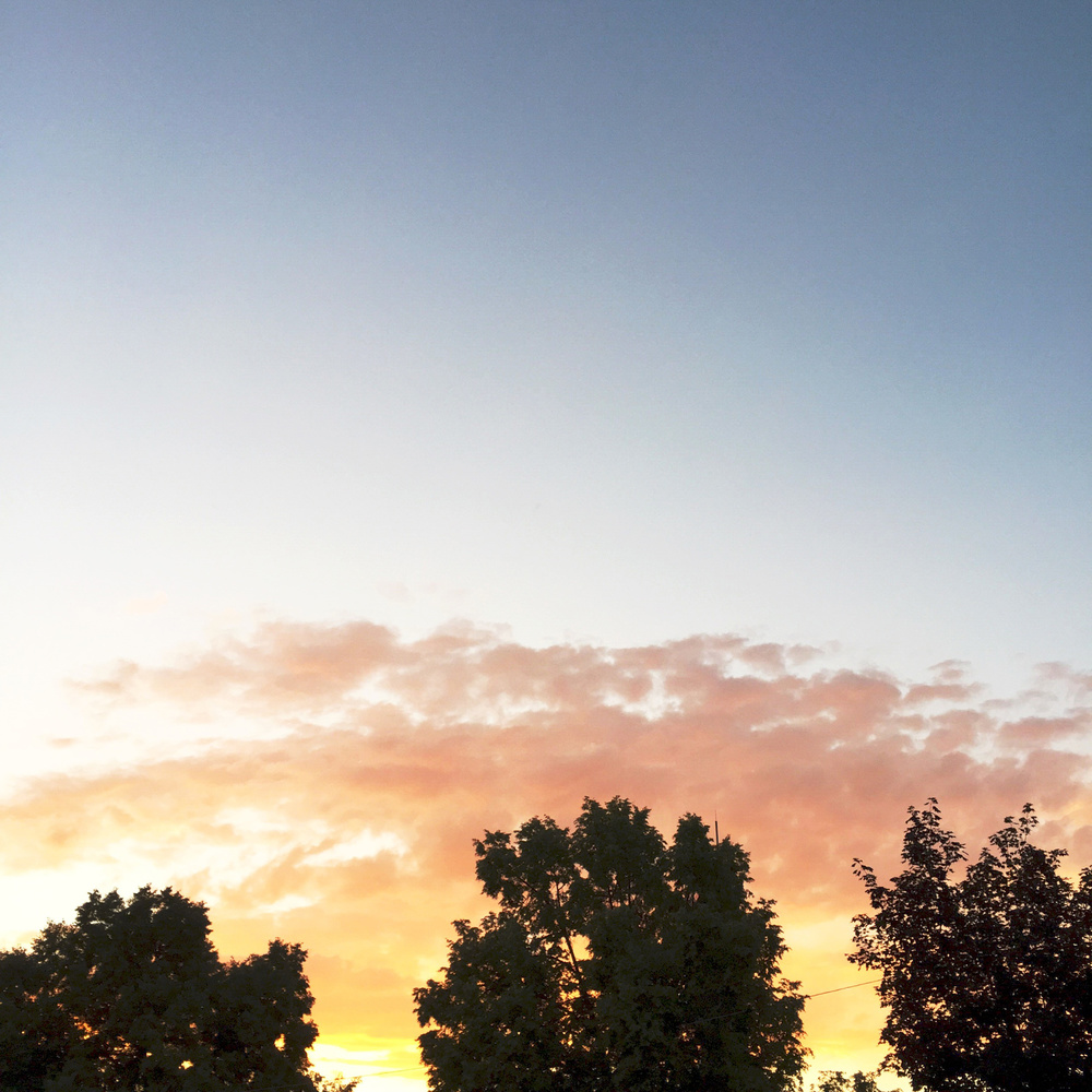 A Utah summer sunset — via Cotton Cashmere Cat Hair