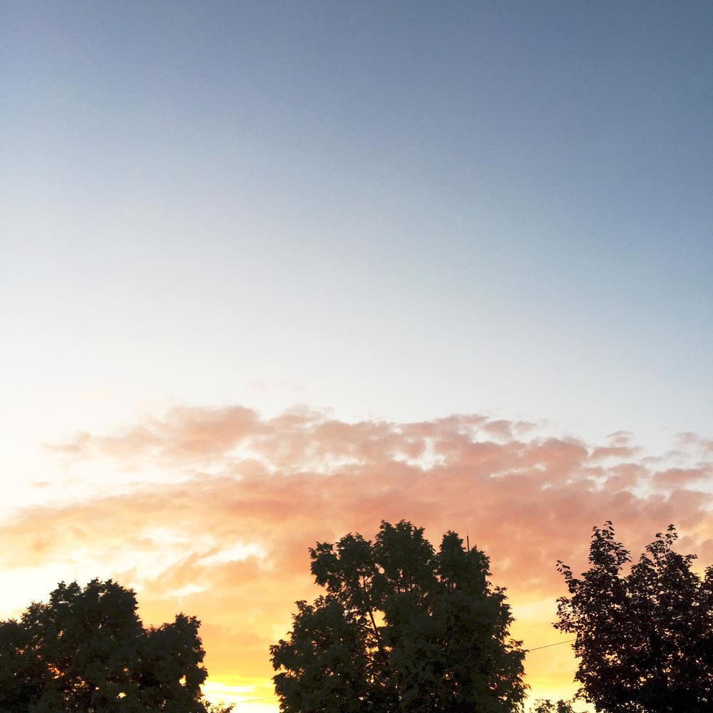A Utah summer sunset — via Cotton Cashmere Cat Hair