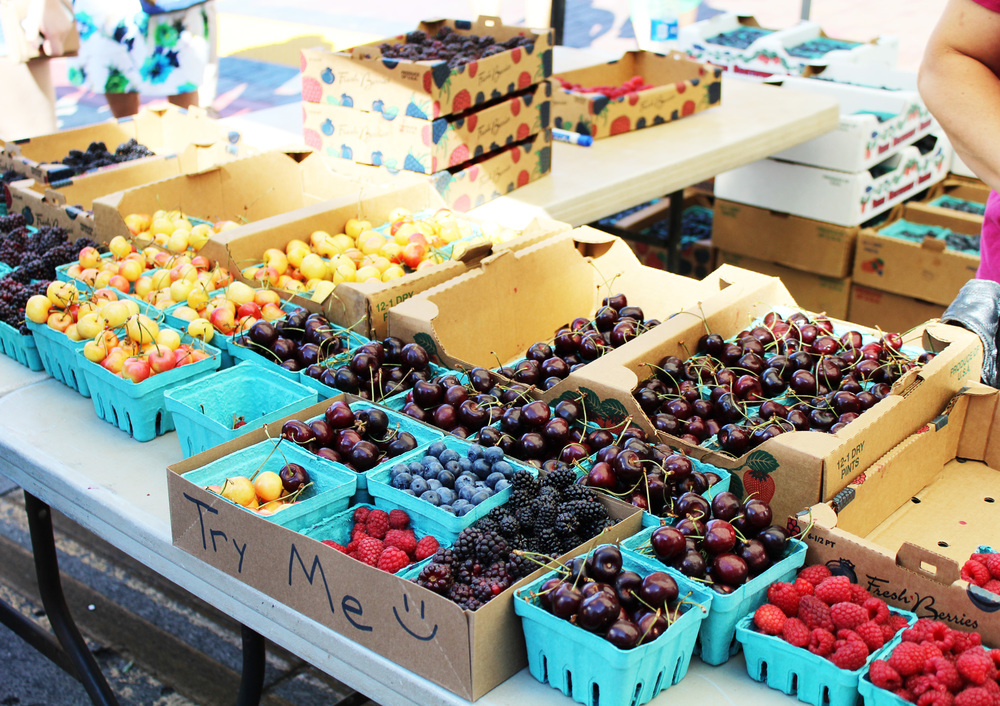 Fresh berries at the Capital City Public Market, Boise, Idaho — via Cotton Cashmere Cat Hair