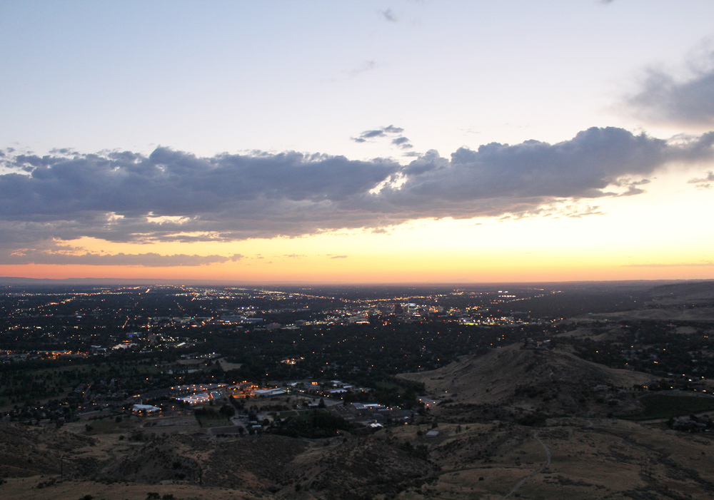 View of Boise from Table Rock trail — via Cotton Cashmere Cat Hair
