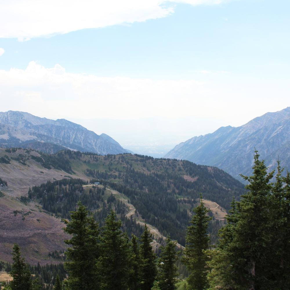 View of Salt Lake City from Hidden Peak, Snowbird Resort, Utah — via Cotton Cashmere Cat Hair
