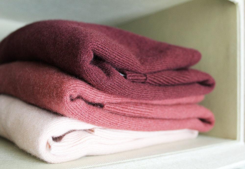 Everlane cashmere sweaters — via Cotton Cashmere Cat Hair