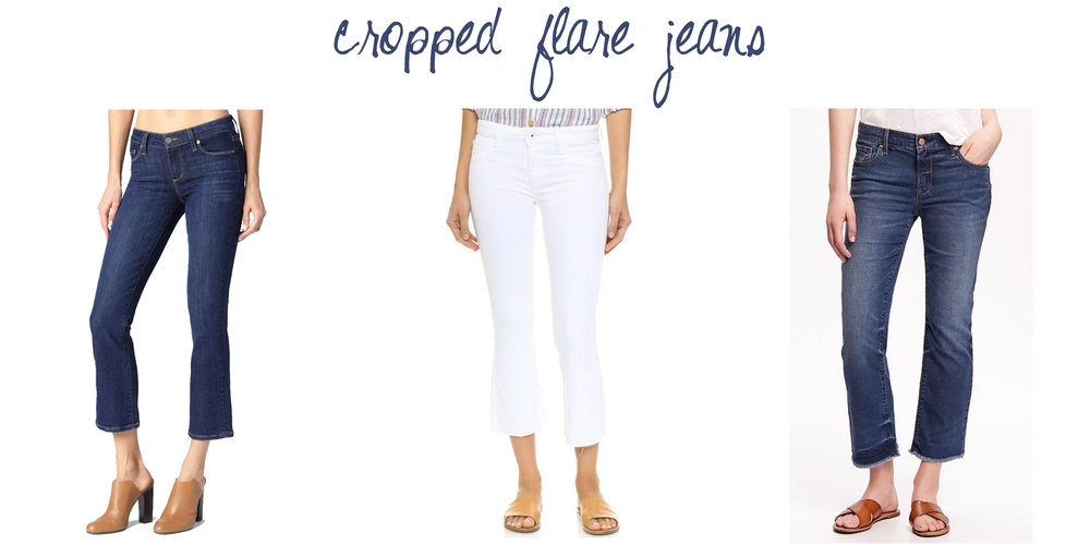 Trend to try: Cropped flare jeans — via Cotton Cashmere Cat Hair