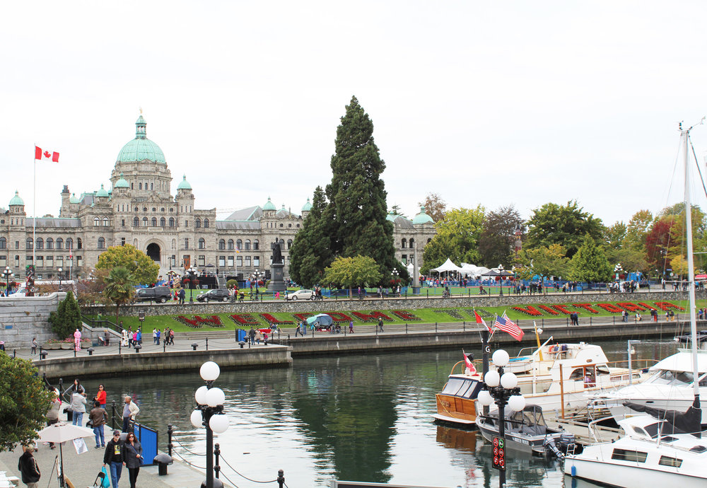 Victoria Harbour and Legislative Building, British Columbia — via Cotton Cashmere Cat Hair