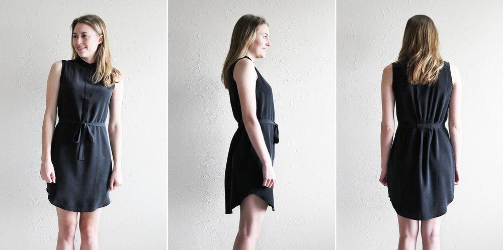Grana 'Silk Sleeveless Shirt Dress' in black — via Cotton Cashmere Cat Hair