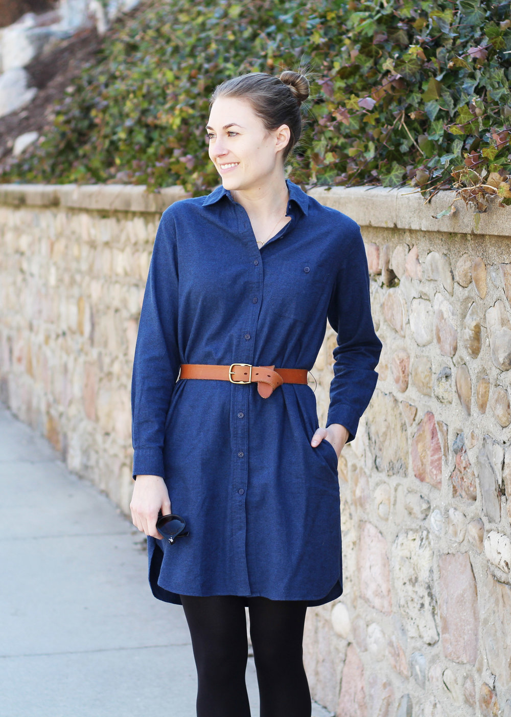 Grana flannel shirt dress — Cotton Cashmere Cat Hair