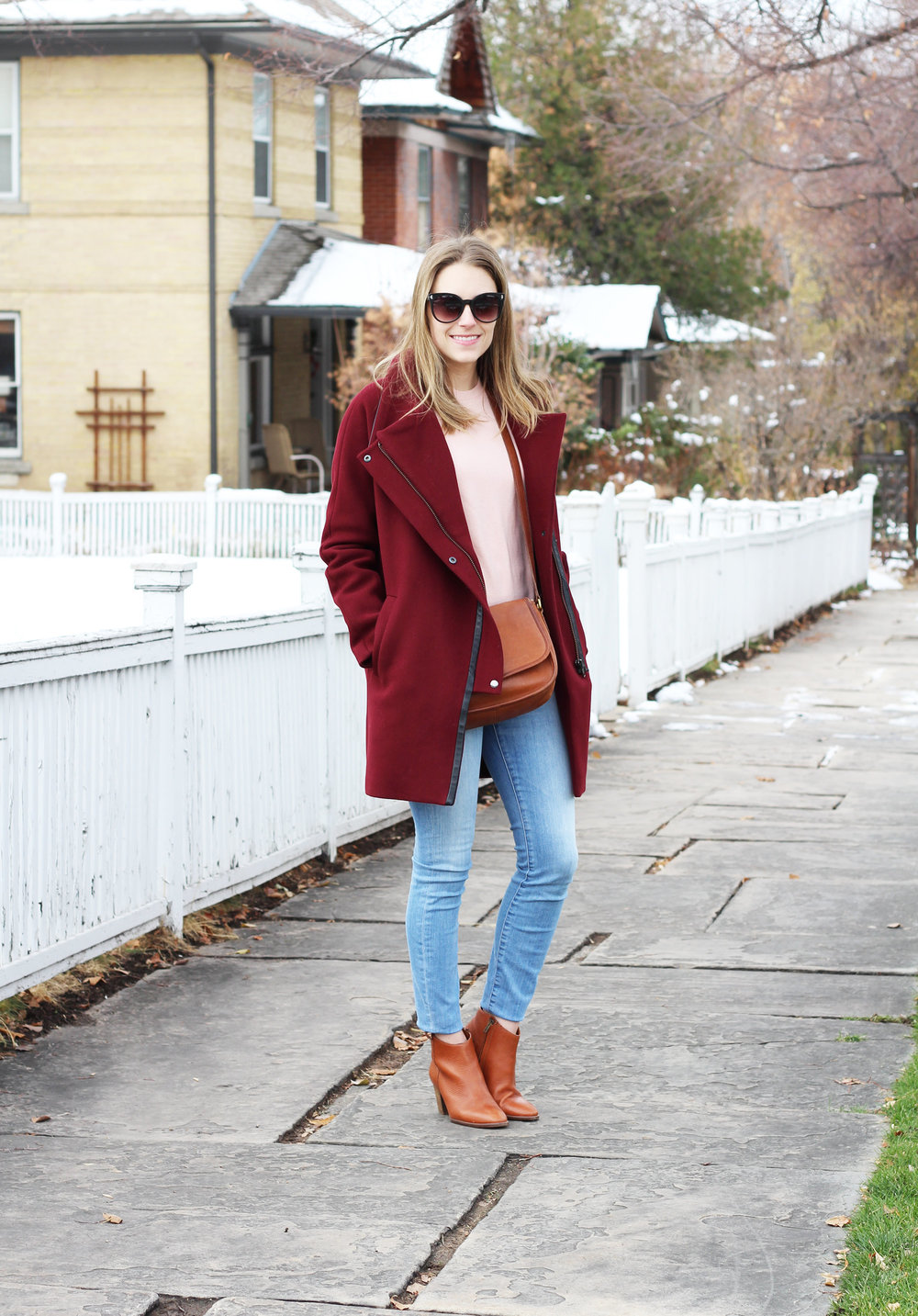 Burgundy and blush
