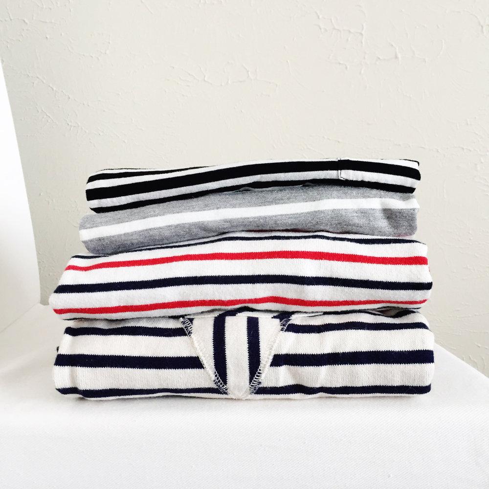 Stripes on stripes for #nationalstripesday — via Cotton Cashmere Cat Hair