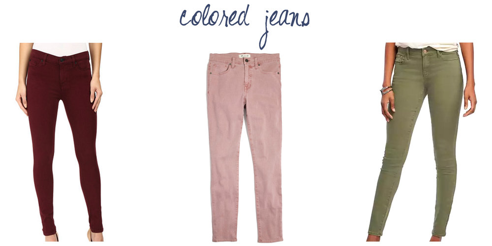 Trend to try: Colored jeans — via Cotton Cashmere Cat Hair