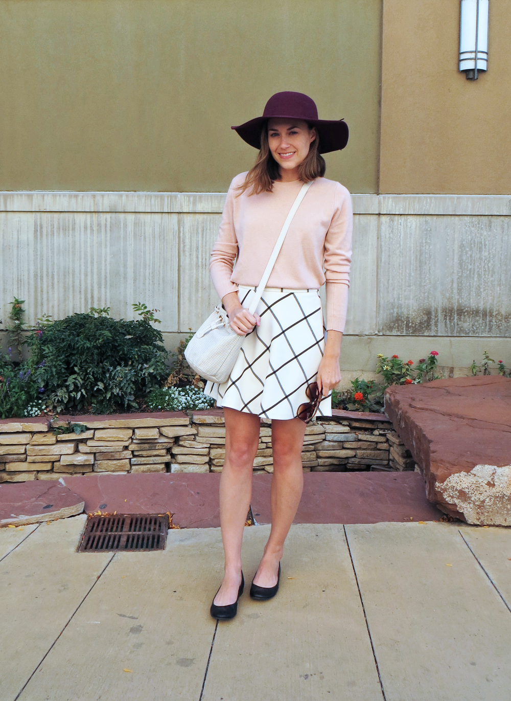 Two bloggers, one garment: Windowpane skirt