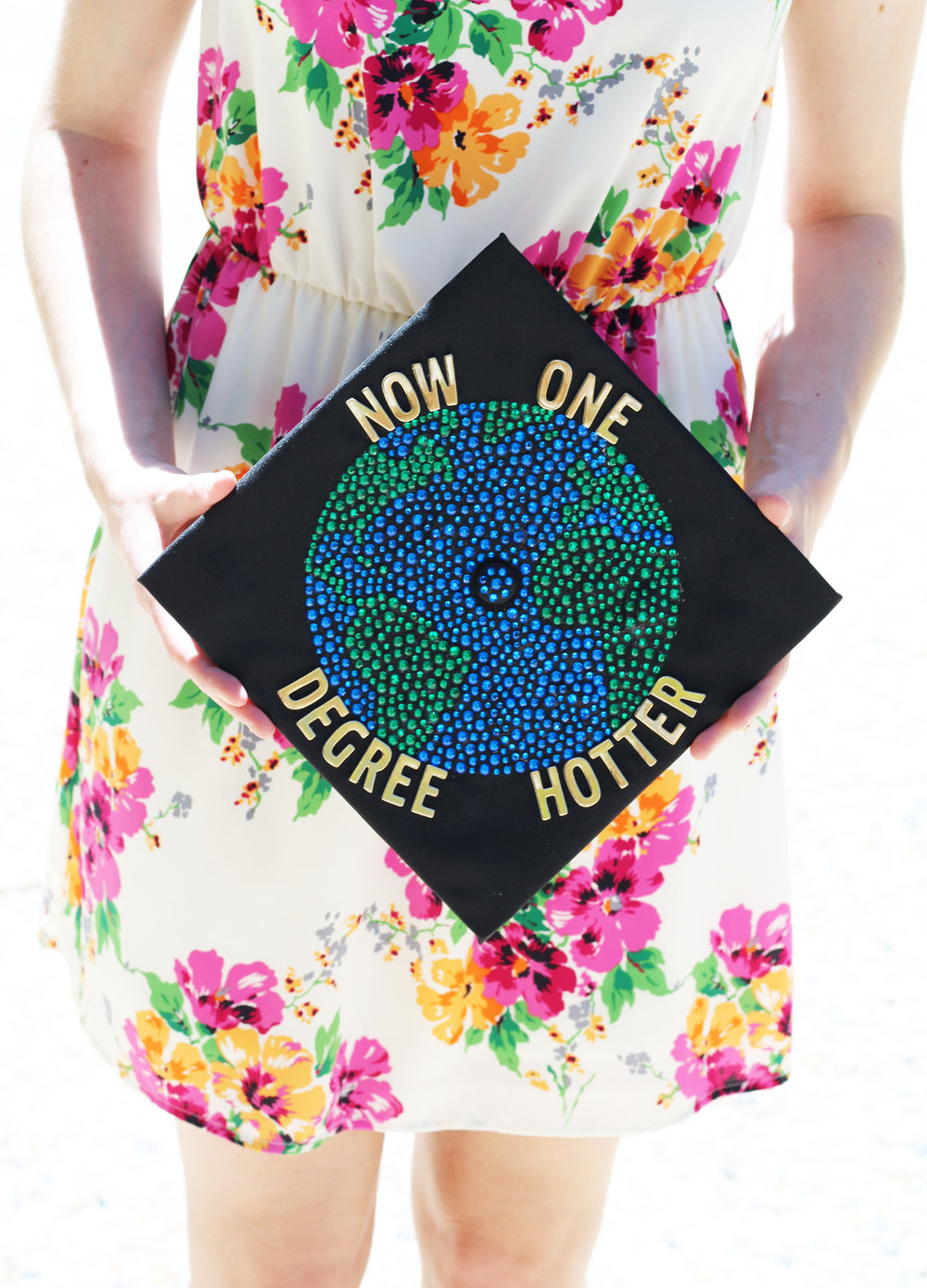 """Now one degree hotter"" graduation cap — Cotton Cashmere Cat Hair"
