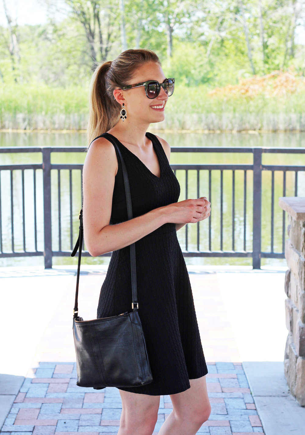 Little black dress for a bachelorette party — Cotton Cashmere Cat Hair