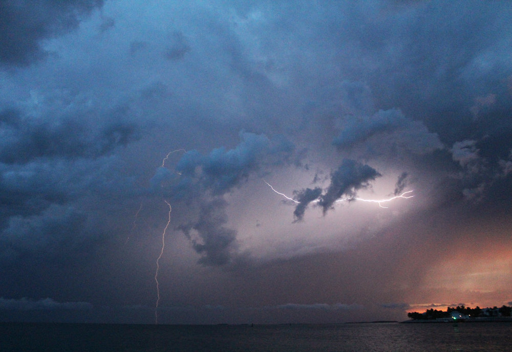 Thunderstorm at sunset in Key West, Florida — Cotton Cashmere Cat Hair