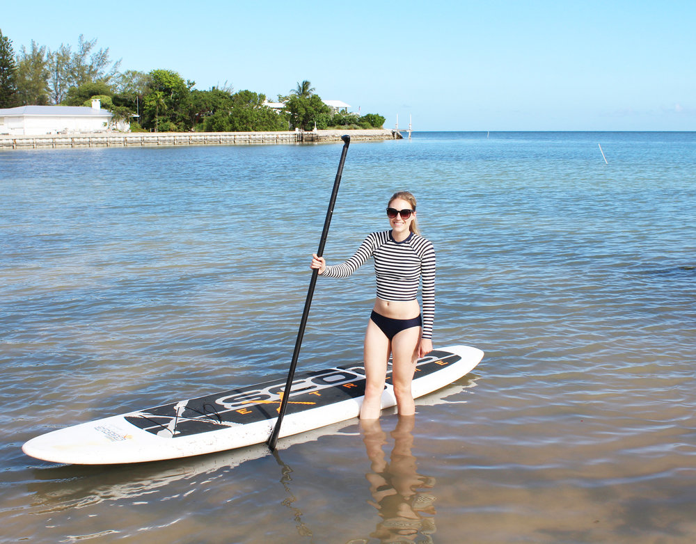 Paddle boarding at Sombrero Beach, Marathon, Florida — Cotton Cashmere Cat Hair