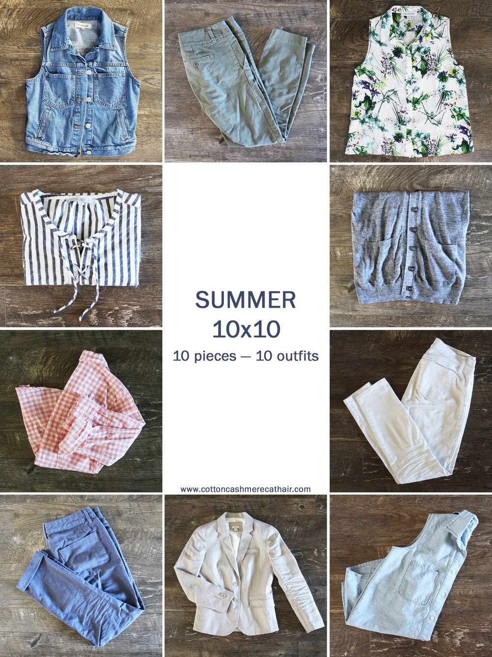 Summer 10x10: 10 pieces, 10 outfits, 10 days — Cotton Cashmere Cat Hair