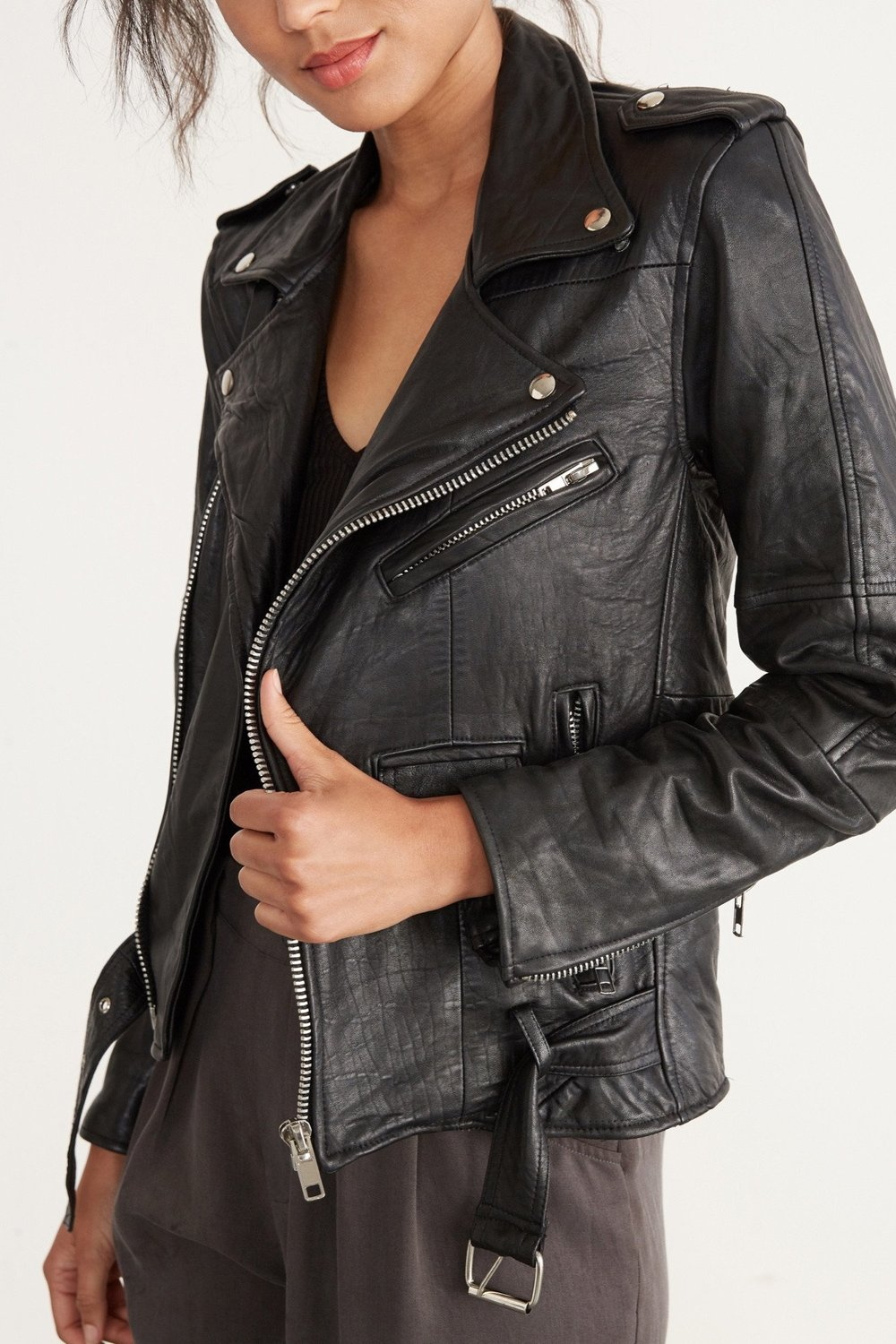Deadwood classic biker jacket via Amour Vert