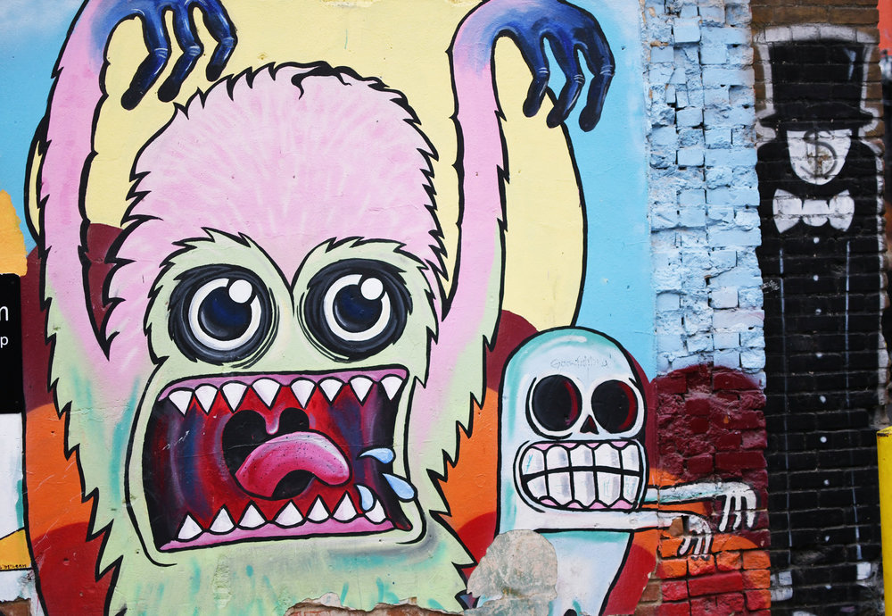 Freak Alley, downtown Boise, Idaho — Cotton Cashmere Cat Hair