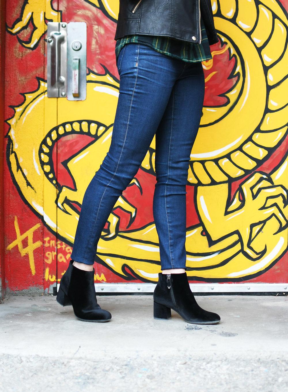 Earthies 'Apollo' black velvet boots — Cotton Cashmere Cat Hair