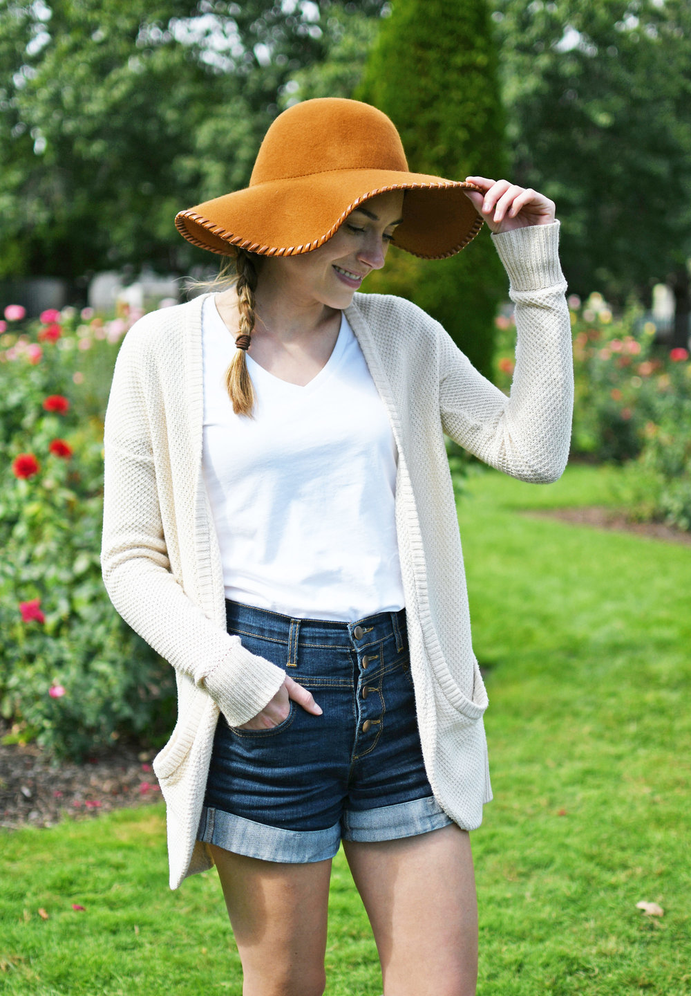 Rust floppy wool hat fall outfit — Cotton Cashmere Cat Hair