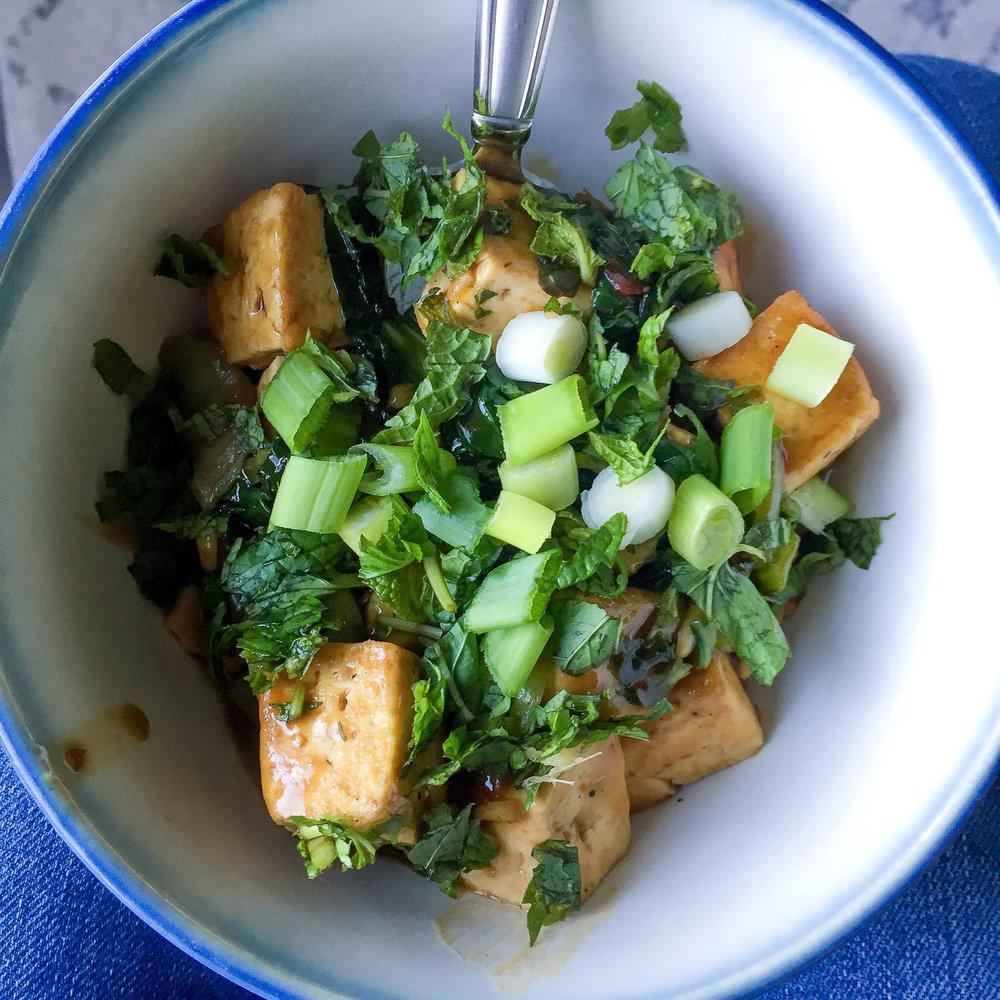 Purple Carrot pan seared tofu