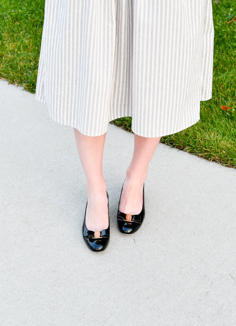 Salvatore Ferragamo Vara pumps — Cotton Cashmere Cat Hair