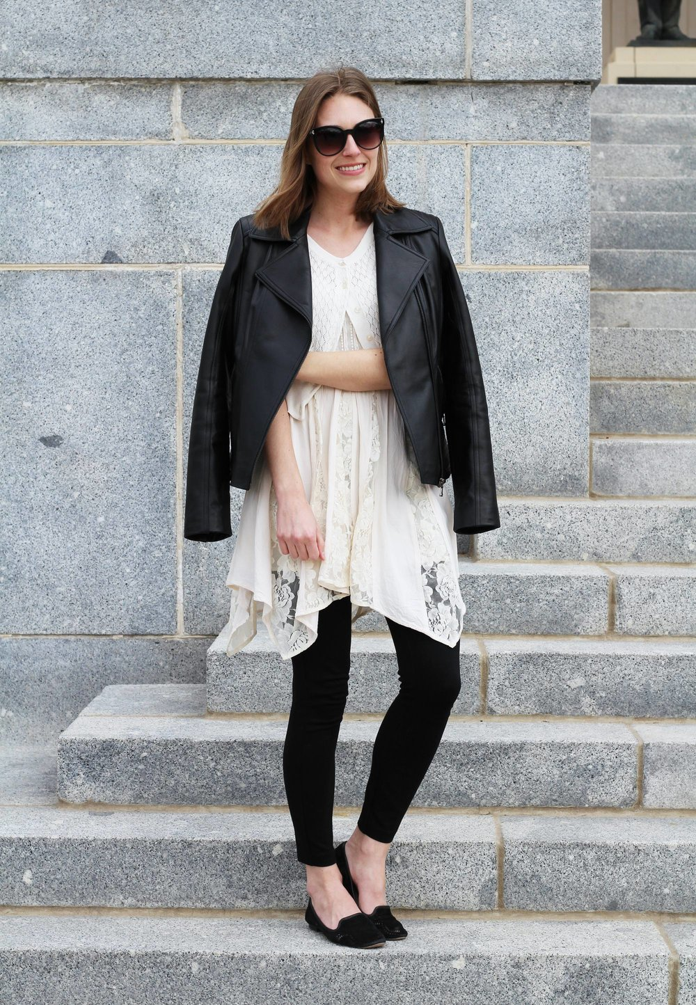 Two bloggers, one garment: Leather jacket