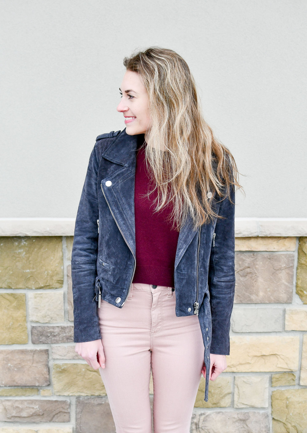 Burgundy cropped cashmere sweater — Cotton Cashmere Cat Hair
