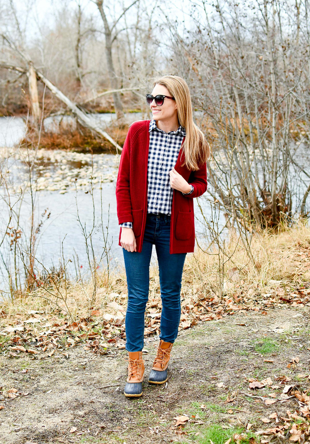 L.L.Bean boots fall outfit — Cotton Cashmere Cat Hair